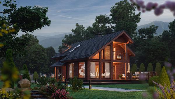 milled log houses