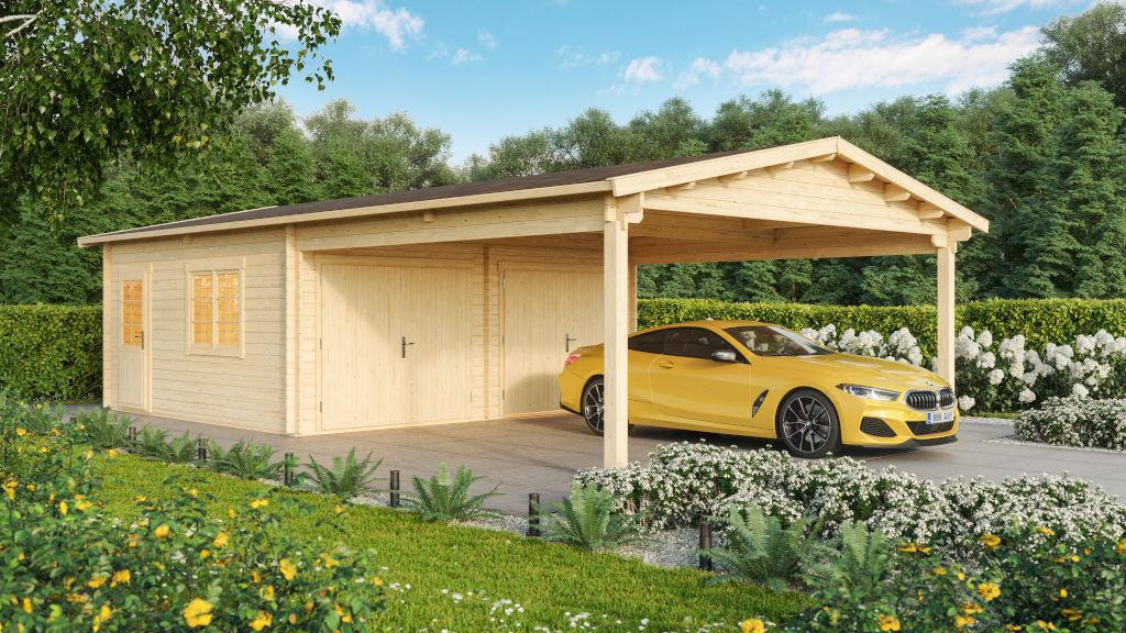 Double garage & carport 44
