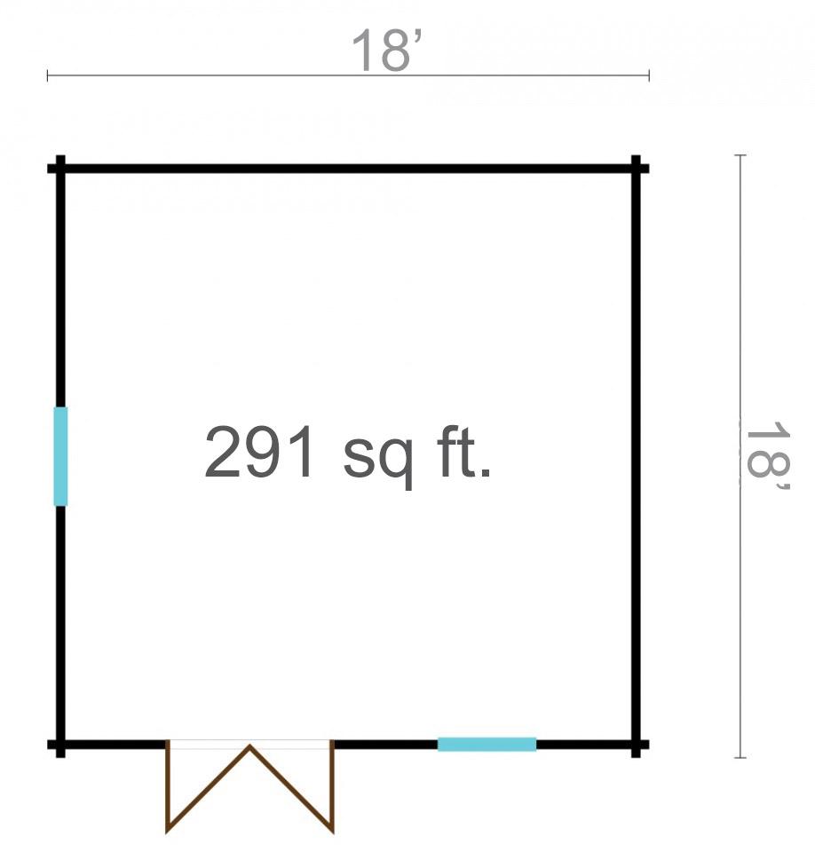 Amandine 44 – a simple garden room