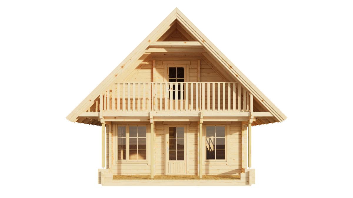 Anders 90 - 2-storey log house