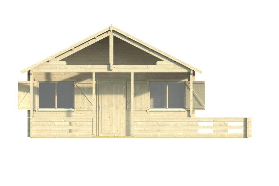Margarita 70A – log house with a loft and a terrace
