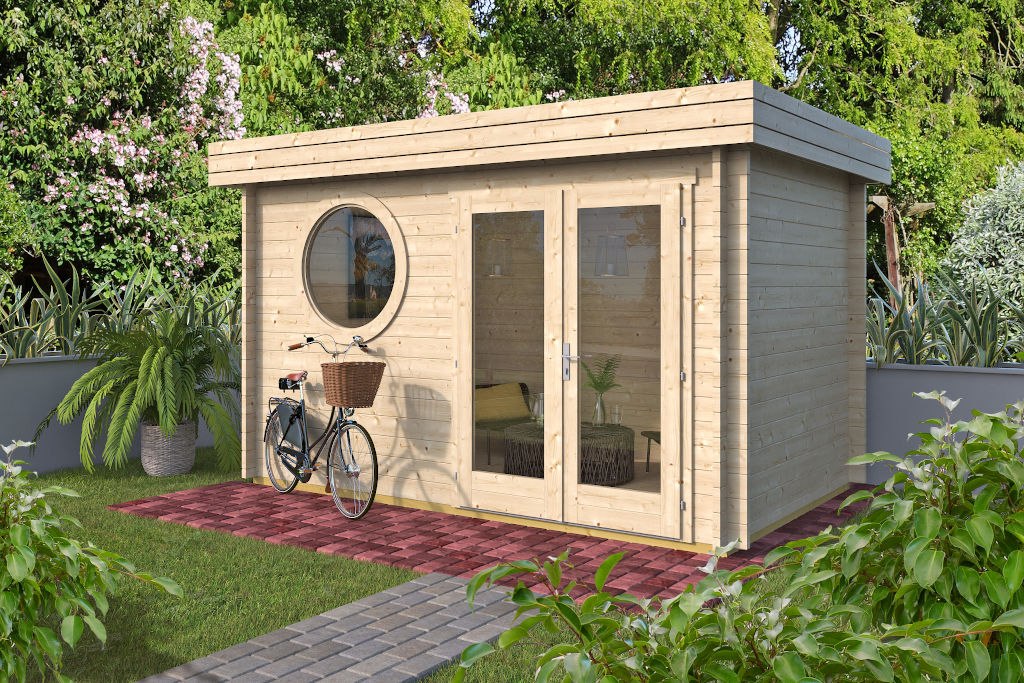 Bonny 44 – timber home office with a double door