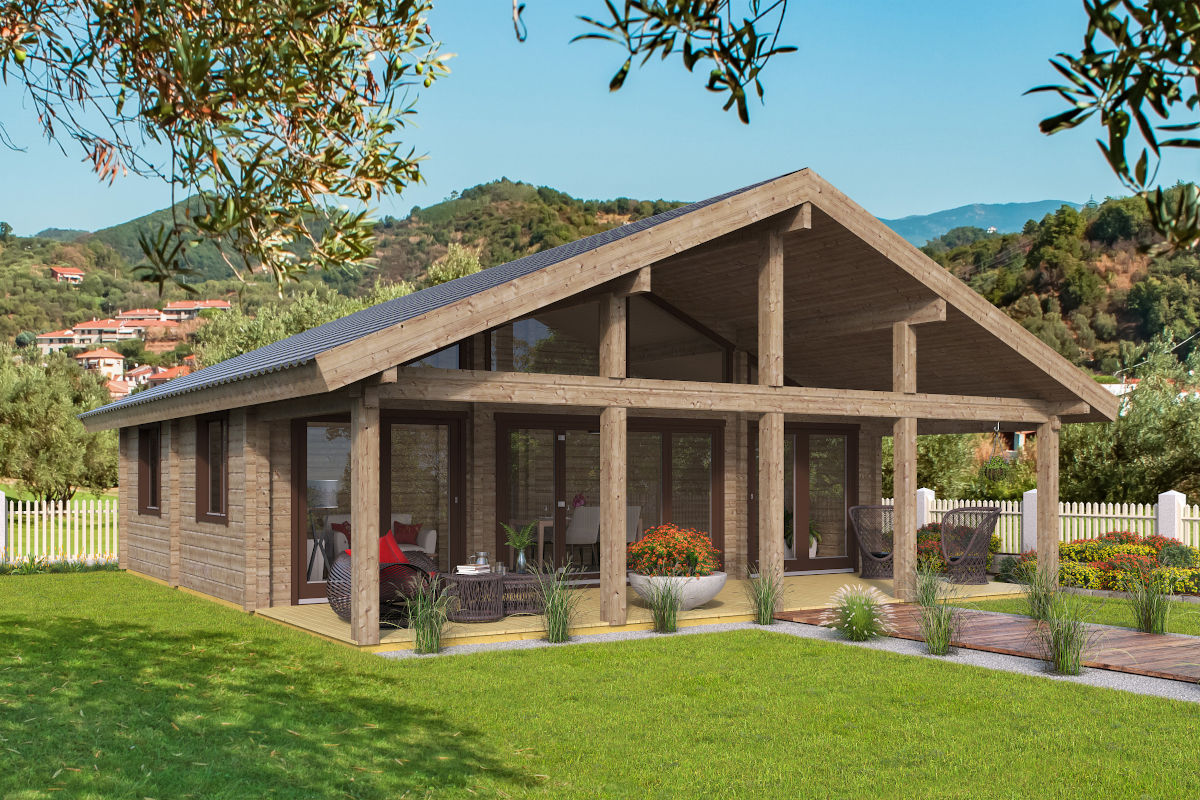 Caroline - log cabin with large windows