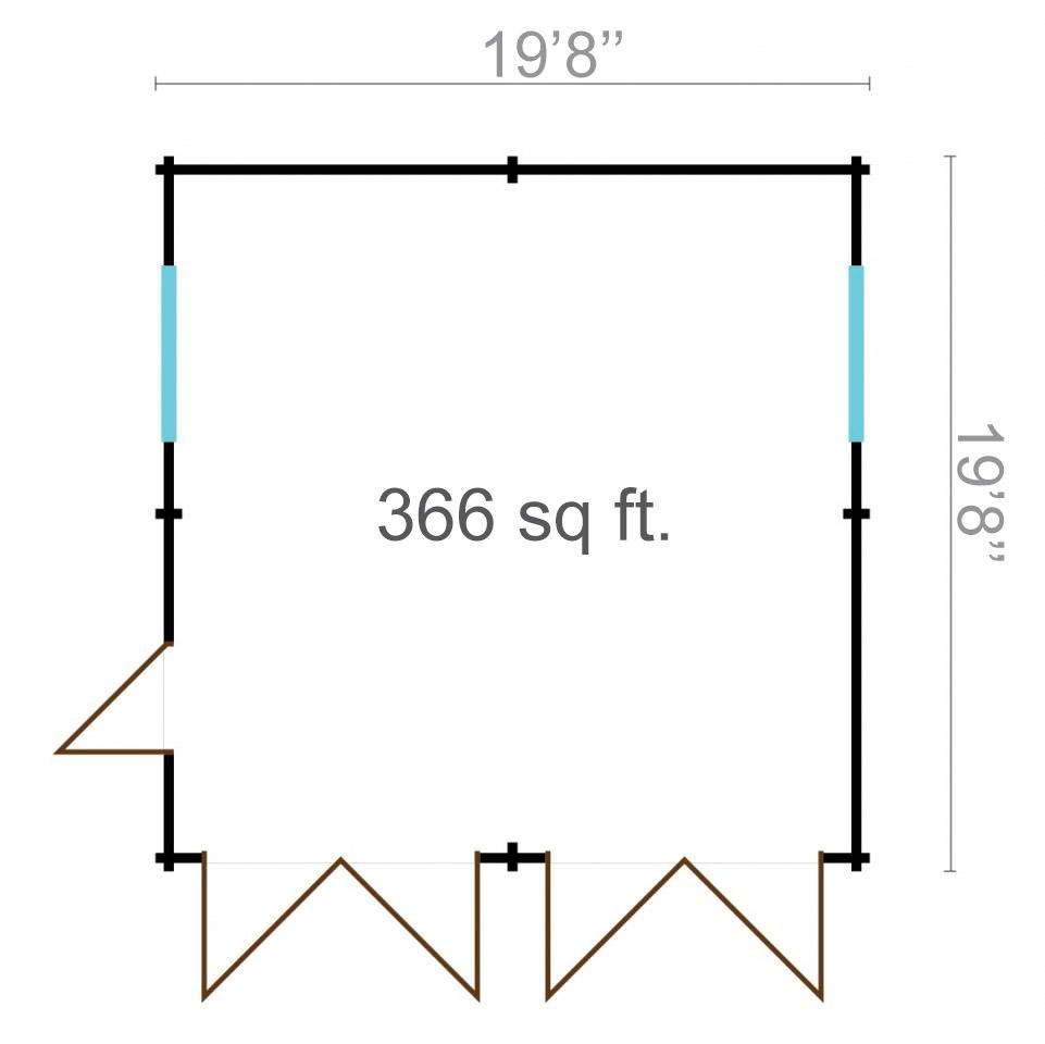 Double garage 44 6x6