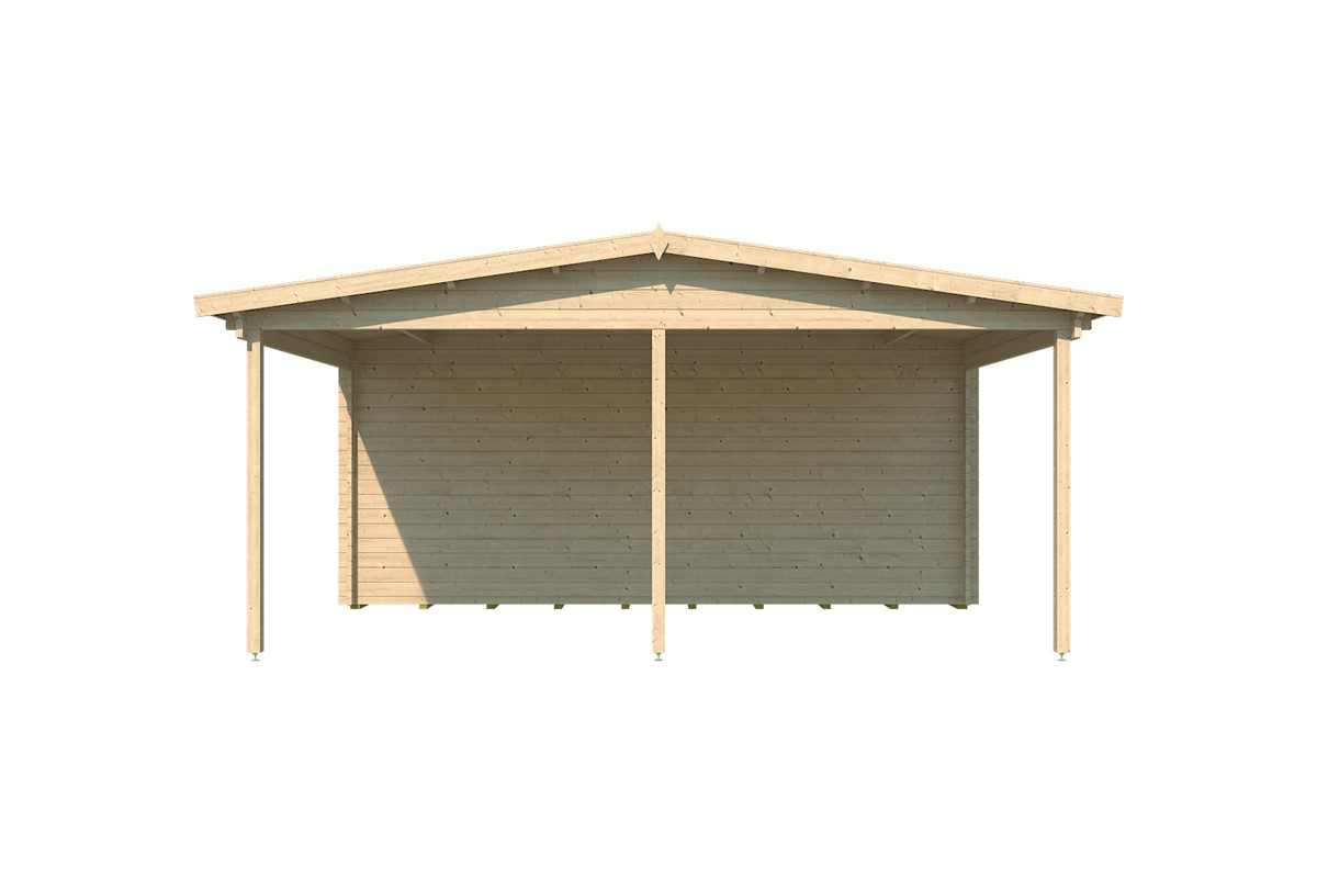 Hannah - two carports with a shed