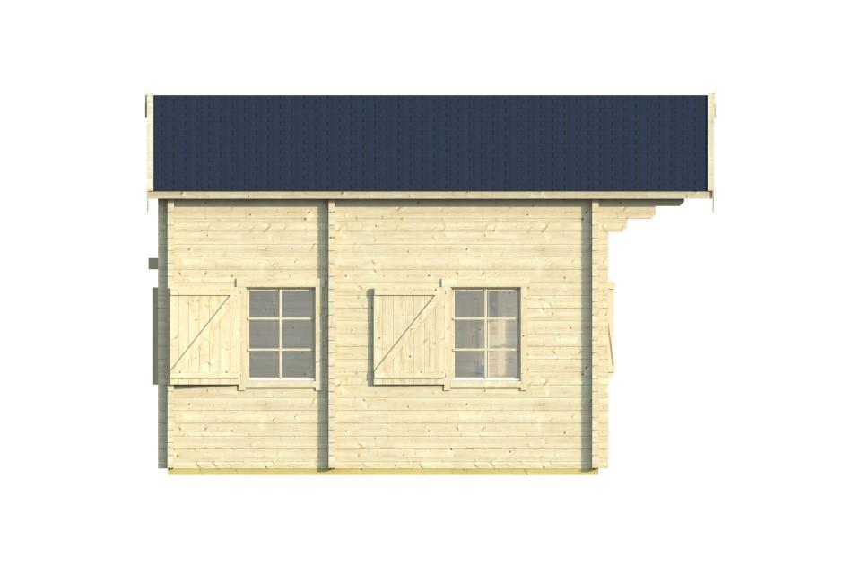 Miranda 70 – log house with a loft area