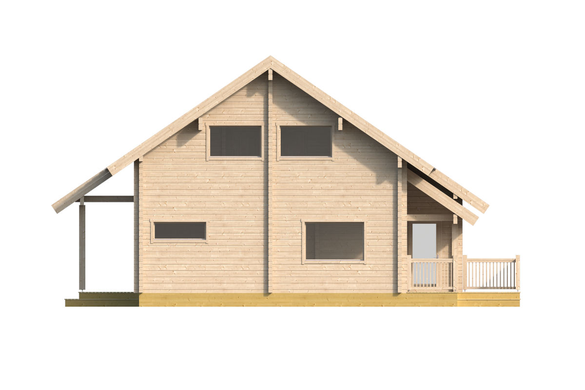 Naivasha - log house with two terraces