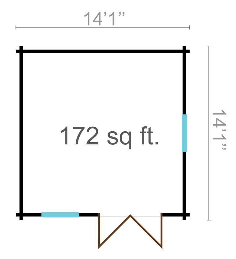 Nora 70 – a small contemporary log cabin