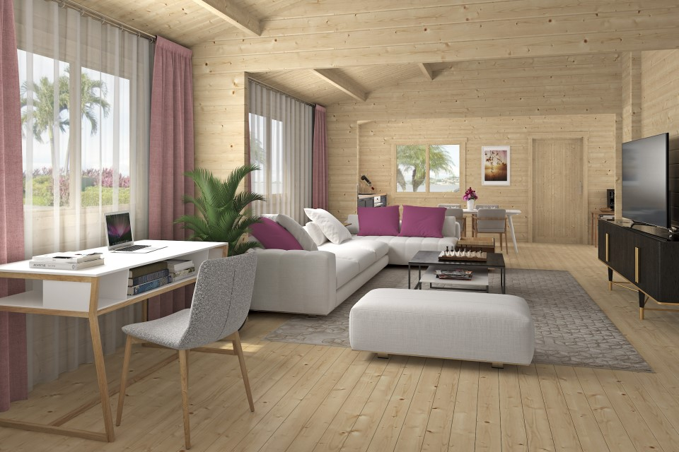 Silvana 70 – timber country house with a large common area