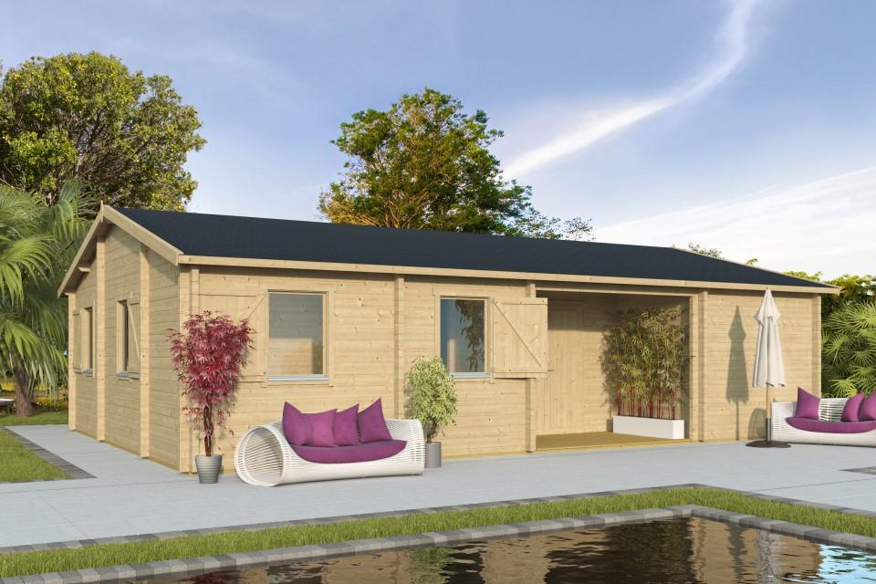 Ursula 70 – a simple and spacious log cabin