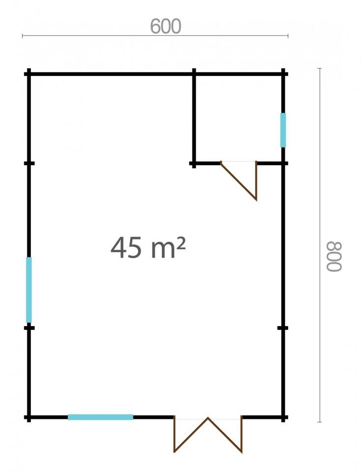 Wilma 44 – a spacious garden room